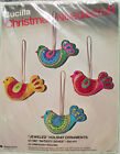Christmas Bucilla NATIVITY DOVES Birds Felt Holiday Craft Ornament Kit 1881