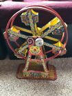 1930s J Chein Tin Litho Wind Up Hercules Mechanical Ferris Wheel Toy