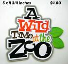 WILD TIME AT ZOO TITLE boy girl play scrapbook premade paper piecing by Rhonda