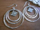 Harley Davidson Hoop Spinner Earrings 925 Sterling Silver