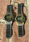 Vtg Timex Atlantis 100 Watch Digital Indiglo Night Mode Chronograph Alarm WR100M