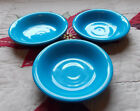 Fiesta Ware Peacock Blue Fruit Bowl Lot of 3 Fiesta Retired Bowls 5.25 inches