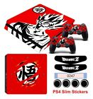Fit Palystation 4 PS4 Slim Console&Controller of Dragon Ball Skin Sticker Decals