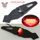 Motorcycle Smoke 12V LED Enduro Fender Stop Brake Light Tail light Universal