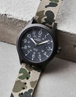 RARE Timex Men's Expedition Scout 40 Watch, Date, Indiglo Reversible CAMO NEW!!