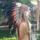 Carnival Headdress Feather Indian Native Warbonnet Handmade Cosplay hat Festival