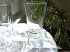 Set of 3 DUZ Detergent Promo Star Sapphire Blue Water Glasses c1950's