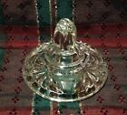Vintage Anchor Hocking Clear Pressed Glass LID ONLY Round Sugar Bowl Finial