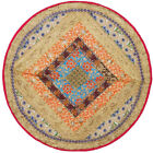INDIAN BEADED EMBROIDER PATCH WORK ROUND TABLE CLOTH/RUNNER/MAT/THROW TAPESTRY