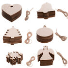 Wooden Shapes Hearts Stars Round Tree Blank Craft Piece DIY Hanging Decoration