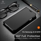 For Samsung Galaxy J6 J4 2018 Luxury Stand Unique Leather Flip Case Skin Cover