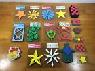 Chunky Layers Stamps 5 New Sets Plus 8 used Christmas Theme Stars Crafts