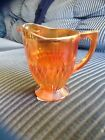 Jeannette Anniversary Creamer Footed Marigold Iridescent 40s 50s 60s Glass