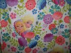 Disney Frozen Microfiber Full Flat Sheet Upcycle Sew Quilt Clothes 97Lx 80W