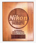 Vintage Nikon Wood Sign for Authorized Nikon Consumer Products Dealer 1VRare