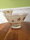 MCM Libbey Starlyte Gold Leaf Chip and Dip Bowl Set