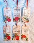 Set of 6 Hang Tags Scripture Biblical Gift Tags Bookmarks Scrapbook Cards 261R