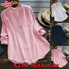 Womens Top Solid Causal Long Sleeve V Neck A-Line Tunic Blouse Tops Shirt Dress