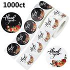 DREAMYHOUSE2 Rolls 1000 Round Floral Thank You Stickers Labels 15