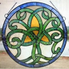 Celtic Tree of Life Stained Glass Window 18 Diameter