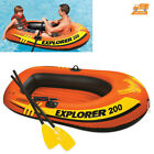 Intex Inflatable WaterCraft Floating Air Tube River Boat Summer Lounger Raft Oar