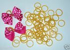 100 Rubber Bands 1 2 diameter for Double Looped Dog Grooming Hair Bows