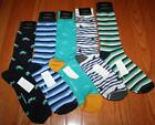 5 Pair NWT Mens Banana Republic Casual Dress Socks Navy Stripe Cars Sunglass *4S