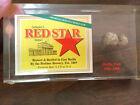 Schuters Red Star Select Beer Paperweight with Piece of East Berlin Wall