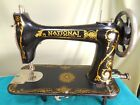 National 2-Spool treadle sewing machine head Very nice used condition