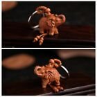 Rose Wood Carving Chinese Feng Shui Geomancy Elephant Statue Key Chain Keyring