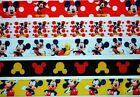 Grosgrain Ribbon 5 yds 7 8 Mixed Lot Mickey Mouse Printed Refk1