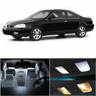 8x Cool White Bulb For 2001-2003 Acura CL AC1W LED Llights Interior Package Kit