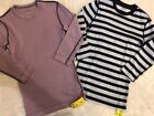 THREE DOTS Womens Stripe  Solid 3 4 Sleeve Tees Lot XS NWT