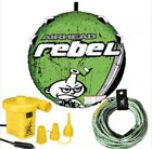 Airhead Rebel Inflatable Water Boat Towable Deck Tube Air Pump Rope KIT AHRE 12