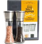 Elegant Salt And Pepper Grinder Set Of 2 Premium Stainless Steel Mill Set