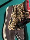 SPERRY Top Sider Womens SIZE 85 Black Cheetah High Top Sneakers Shoes