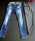 SIMPLY CHIC PULL  BEAR pants jeans ripped lace vintage retro gothic low rise M