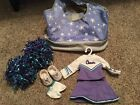Retired American Girll Doll Cheerleading Outfit with Cheer Bag and Pom Poms
