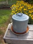 Vintage   Rusty Galvanized Metal Farm Chicken Water Feeder Primitive Decor- 0