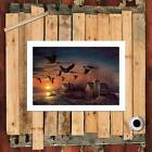 Canada Goose flock in flight Home Decor HD Canvas Print Picture Wall Painting