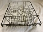 's metal wrapped Wire Dish utensil tray Rack primitive Kitchen sink