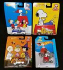 4 NEW Hot Wheels PEANUTS HALLOWEEN Quick D livery XMAS Snoopy Convoy Baron Ford