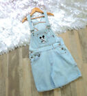 Vintage Mickey Mouse by Disney jean overalls shorts women xss