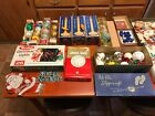 Lot of Vintage Christmas Decorations Sterling Candle Spun Murphy Lights MORE