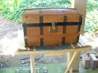 Antique victorian doll trunk, with tray, 14
