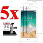 5PCS Tempered Glass Screen Film Protector For Apple IPhone 6 6S 7 7 8 Plus SE 5S