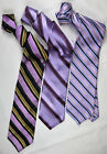 Lot of 3 IKE BEHAR New York Tie Silk Mens Made in USA Striped Multi-Color Mint