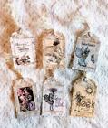 Set of 6 Hang Tags Fairy Garden Gift Tags Scrapbooking Card Making 2R