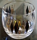 FEDERAL GLASS ROLY POLY BLACK DIAMOND HARLIQUIN ATOMIC MID CENTURY RETRO 3 1/4TH