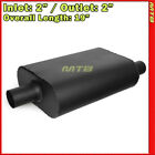 High Flow Two Chamber Muffler 2 inches Offset In Center Out Black 212239